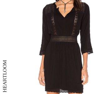 HEARTLOOM Black Lace Trim Cutout Soma Dress, Large